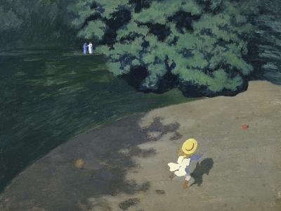 Child Playing with the Ball (Corner of the Park-F?lix Vallotton-Giclee Print