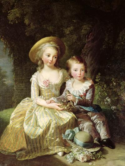 Child Portraits of Marie-Therese-Charlotte of France-Elisabeth Louise Vigee-LeBrun-Giclee Print
