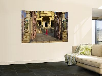 Child Running Past Entrance to Jain Temple-Johnny Haglund-Wall Mural