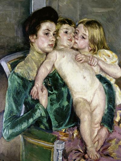 Child's Caress-Mary Cassatt-Giclee Print
