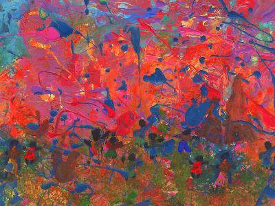 Child's Painting - Abstract Spots-Alexey Kuznetsov-Art Print