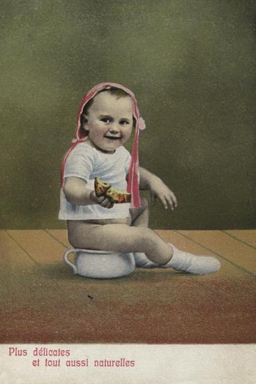 Child Sitting on Potty--Giclee Print
