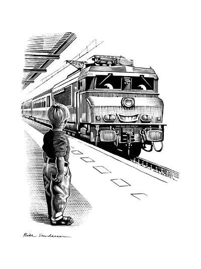 Child Train Safety, Artwork-Bill Sanderson-Giclee Print