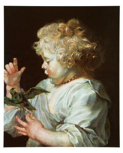 Child with a Bird, c.1616-Peter Paul Rubens-Art Print