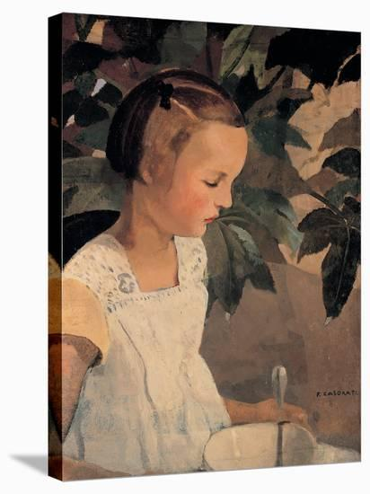Child with a Bowl-Casorati Felice-Stretched Canvas Print