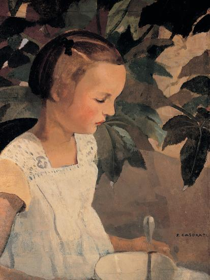 Child with a Bowl-Casorati Felice-Giclee Print