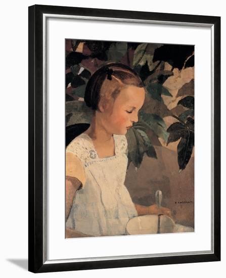 Child with a Bowl-Casorati Felice-Framed Giclee Print