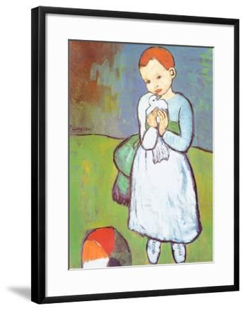Child with a Dove, c.1901-Pablo Picasso-Framed Art Print