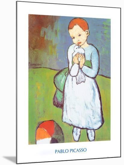 Child with a Dove, c.1901-Pablo Picasso-Mounted Print