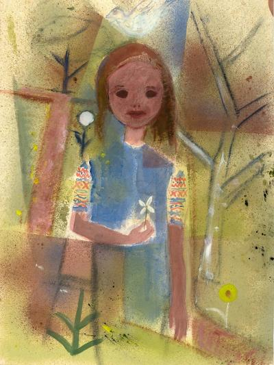 Child with a Dove, C.1940-45-Anneliese Everts-Giclee Print