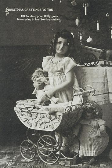 Child with Armand Marseille Doll, Postcard--Giclee Print