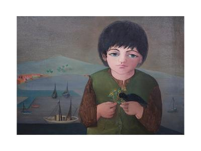 Child with Mimosa at Porto S.Stefano, 1975-Bettina Shaw-Lawrence-Giclee Print