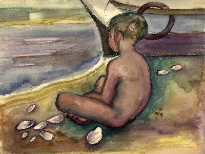 Child with Sea Shells, 1955-60-Anneliese Everts-Giclee Print