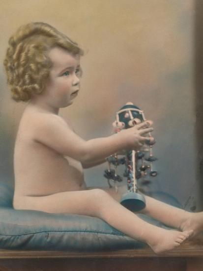 Child with toy, c1920-Unknown-Photographic Print