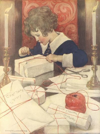 Child Wrapping Presents-Jessie Willcox-Smith-Giclee Print