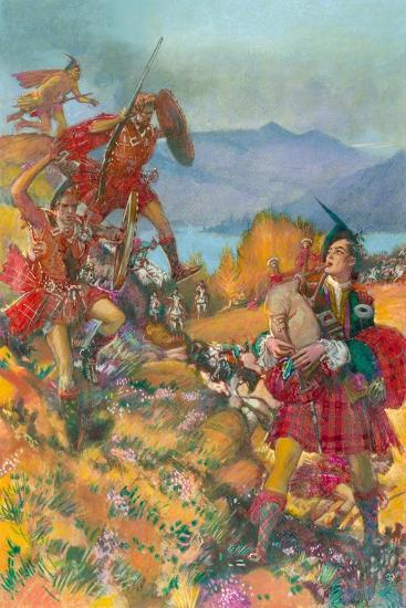 Childe Harold's Pilgrimage-John Millar Watt-Giclee Print