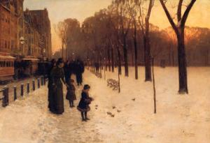Boston Common at Twilight, 1885-86 by Childe Hassam