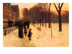 Boston in Everyday Twilight by Childe Hassam