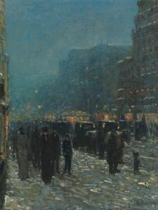 Broadway and 42nd Street, 1902 by Childe Hassam