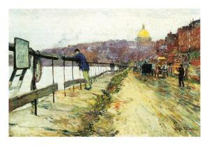 Charles River and Beacon Hill by Childe Hassam