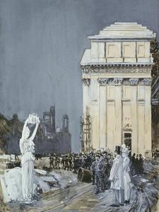 Chicago Exposition, 1892 by Childe Hassam