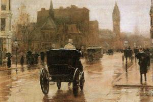Columbus Avenue by Childe Hassam