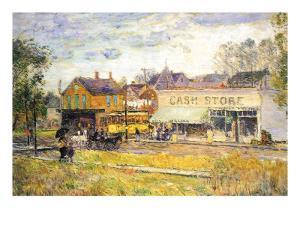 End of The Tram, Oak Park, Illinois by Childe Hassam