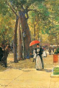Fifth Avenue and Washington Square by Childe Hassam