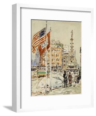 Flags, Columbus Circle, 1918
