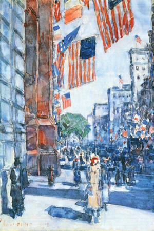 Flags, Fifth Avenue by Childe Hassam