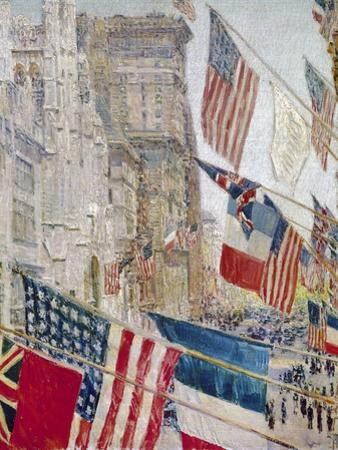 Hassam: Allies Day, May 1917 by Childe Hassam