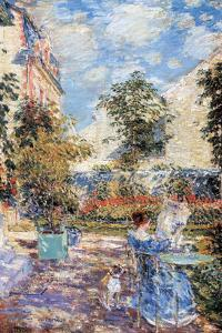 In a French Garden by Childe Hassam