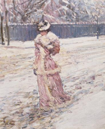 Lady in Pink by Childe Hassam