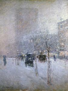 Late Afternoon, New York, Winter, 1900 by Childe Hassam