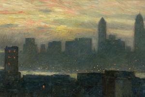 Manhattan's Misty Sunset, 1911 by Childe Hassam