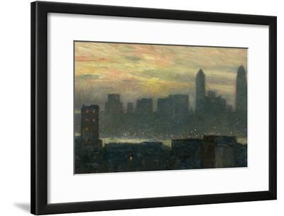 Manhattan's Misty Sunset, 1911