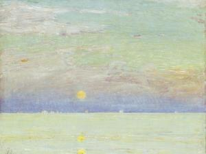 Moonrise at Sunset, Cape Ann, 1892 by Childe Hassam