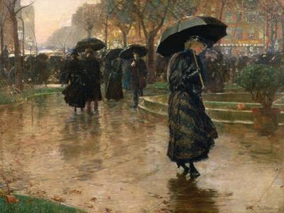 Rain Storm, Union Square, 1890 by Childe Hassam