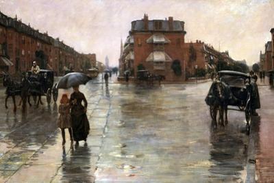 Rainy Day, Boston, 1885