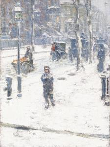 Snow Storm, Fifth Avenue, New York, 1907 by Childe Hassam