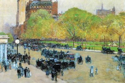 Spring Morning in the Heart of Manhattan by Childe Hassam