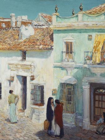 Street Scene, La Ronda, Spain, 1910 By Childe Hassam