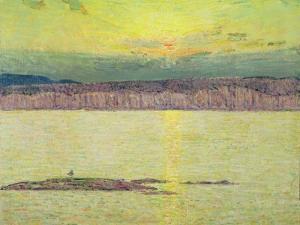 Sunset Ironbound, Mount Desert, Massachusetts, 1896 by Childe Hassam