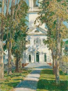 The Church at Gloucester, 1918 by Childe Hassam