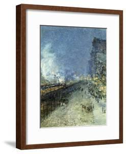The El, New York, 1894 by Childe Hassam