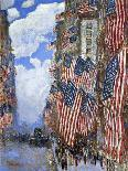 The Fourth of July, 1916-Childe Hassam-Mounted Premium Giclee Print