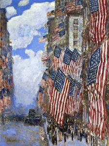 The Fourth of July, 1916 by Childe Hassam
