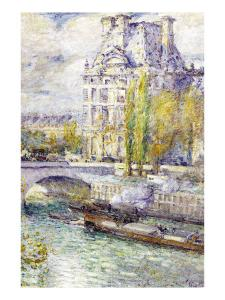 The Louvre On Port Royal by Childe Hassam