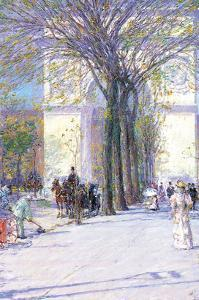 Washington Triumphal Arch in Spring by Childe Hassam