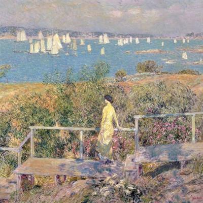 Yachts, Gloucester, 1889 by Childe Hassam